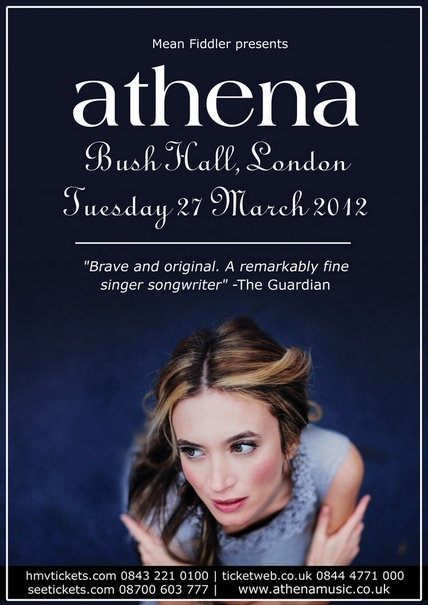 athena BushHall lores Athena live @ Bush Hall, London